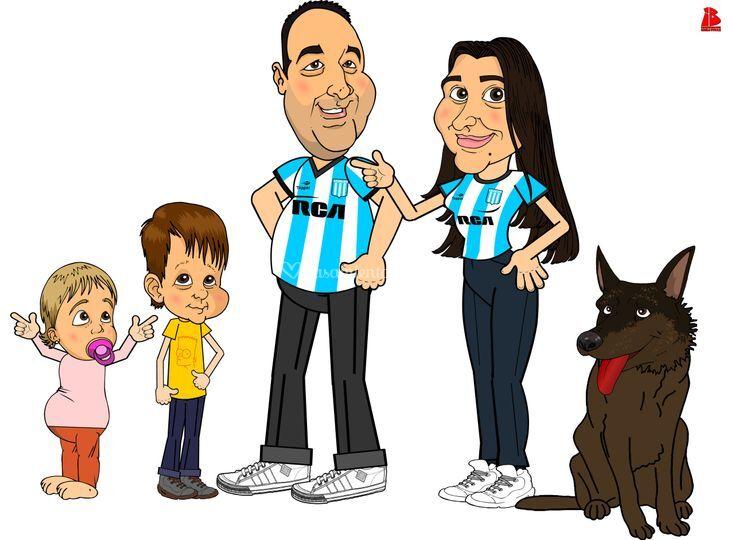 Novios con familia