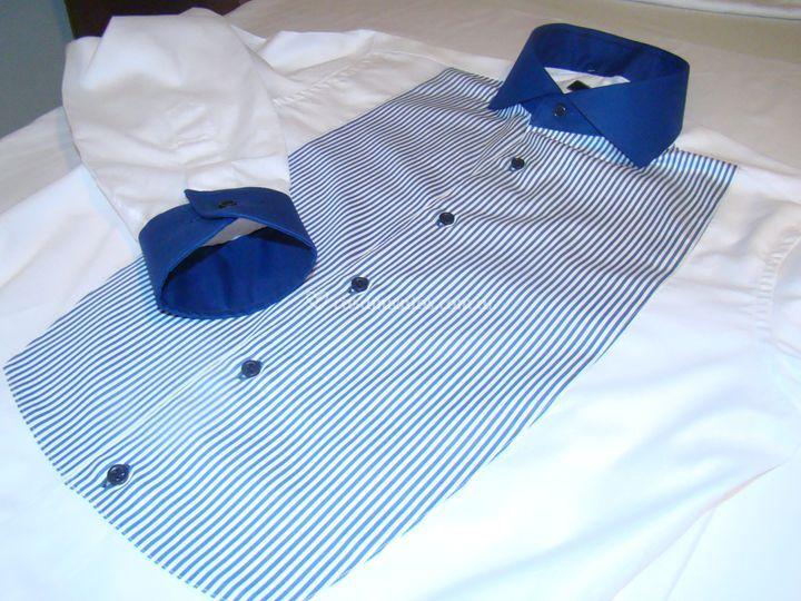 Camisa combinada con pechera