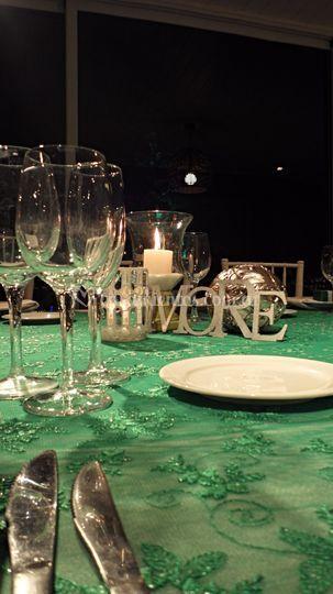 Boda en verde y cristal