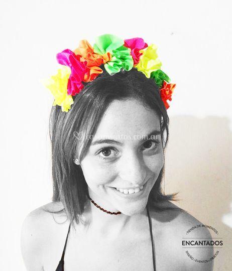 Corona de flores del cotillón