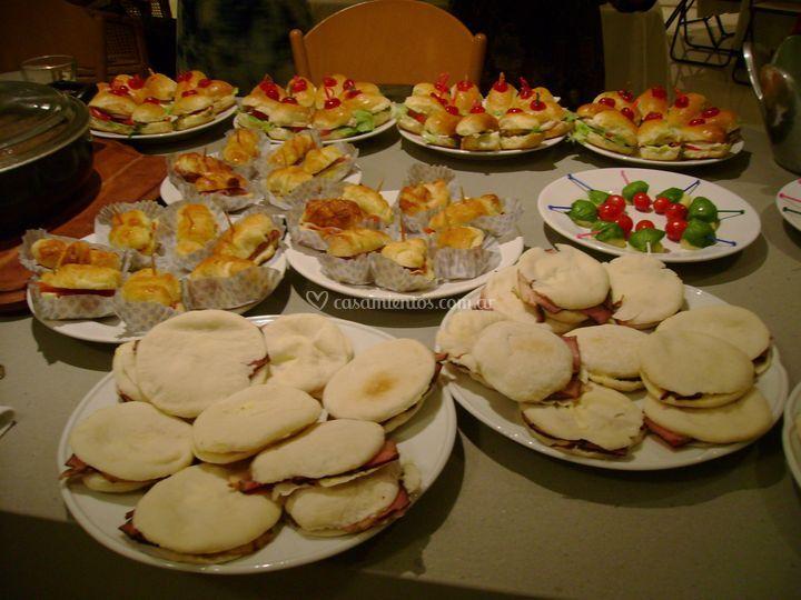 Árabes con jamón caramelizado