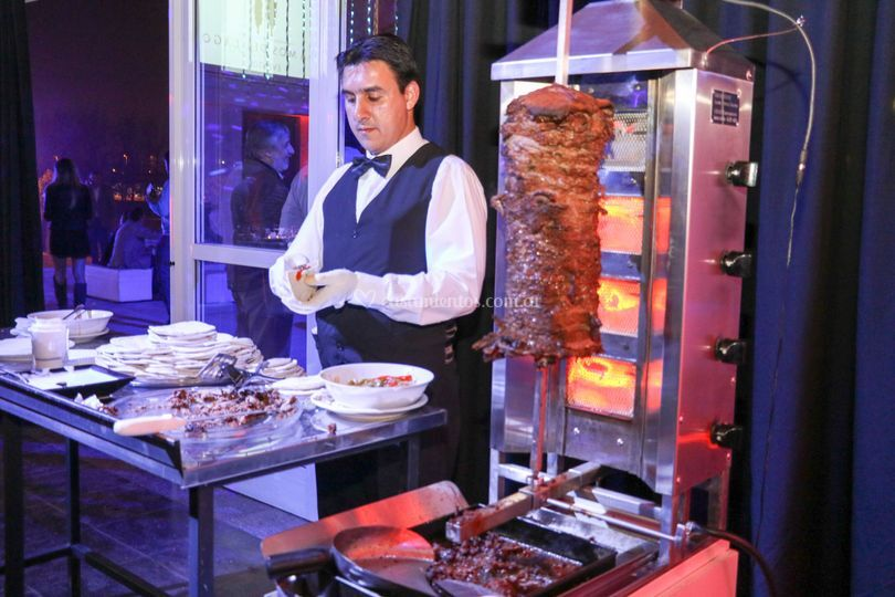 Shawarma en la recepción