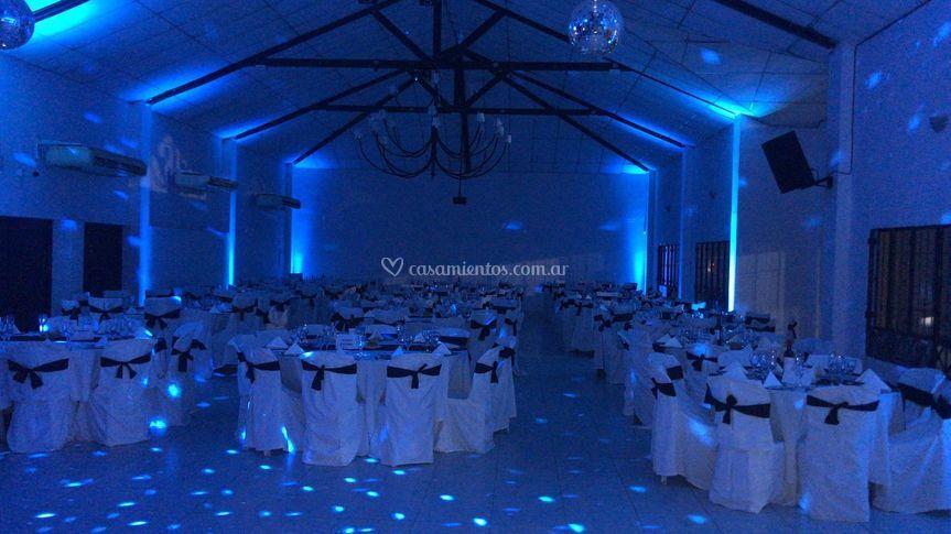 Salón completo azul
