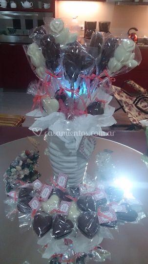 Ramo rosas chocolate