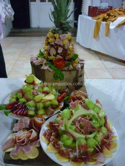 Decoración del buffet