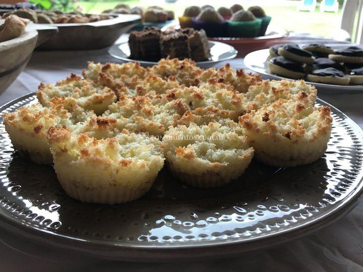 Mini-tartas de coco