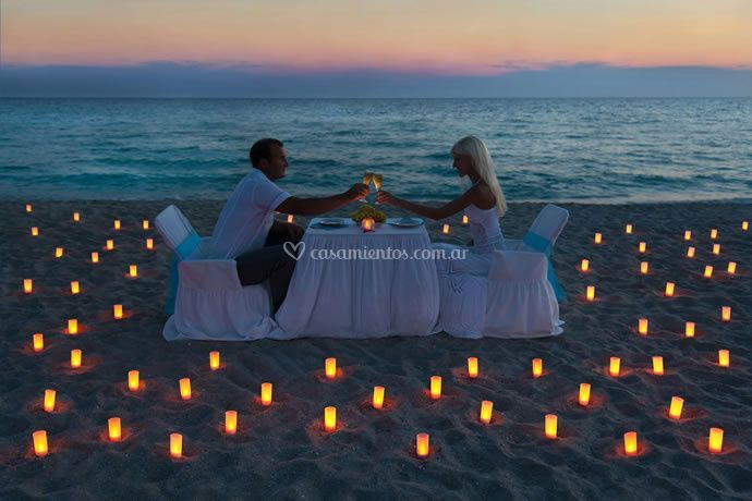 Playa romántica