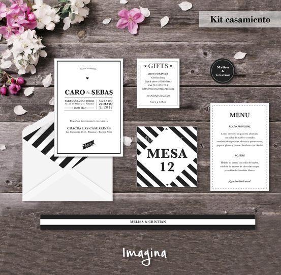Kit casamiento lineas