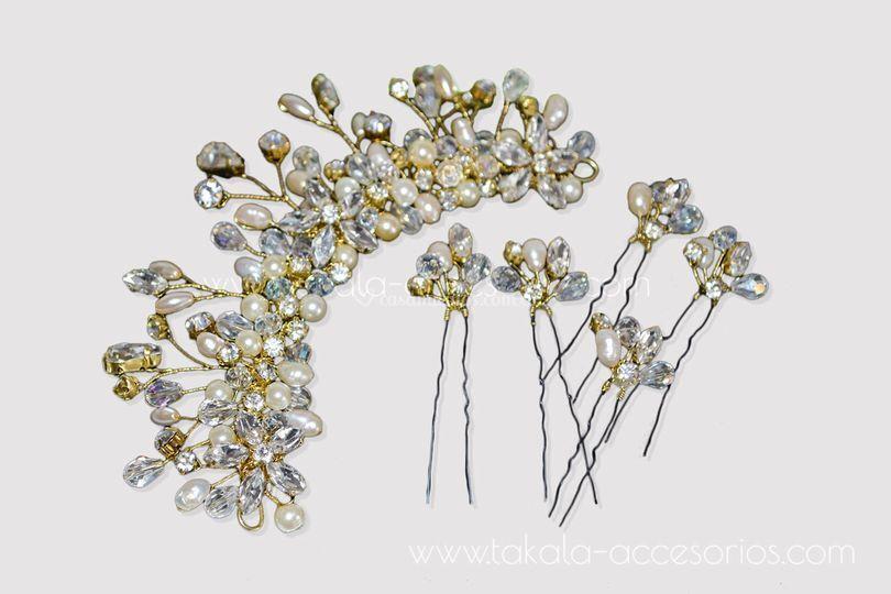 Aplique flores de cristal