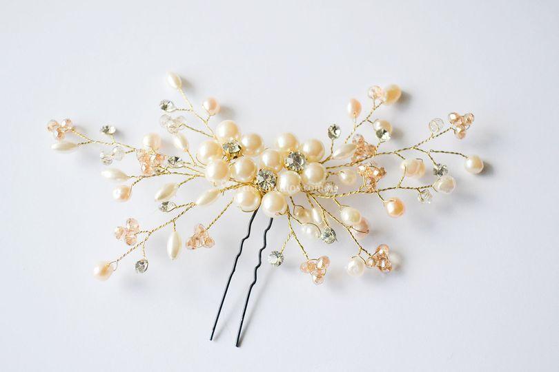 Horquilla de perlas Marina