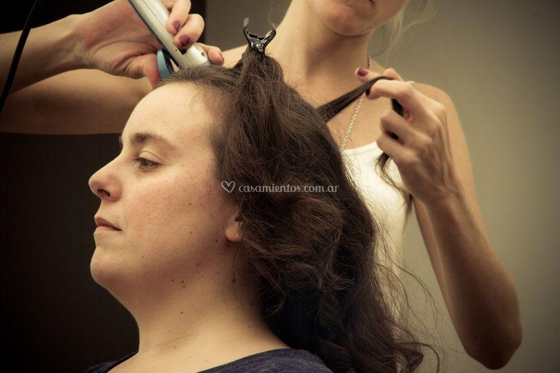 Preparativos peinado