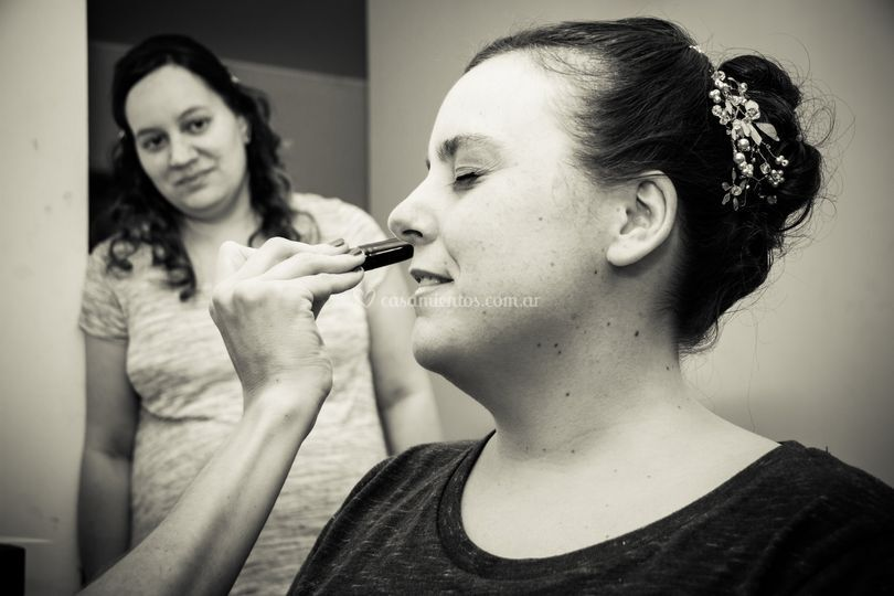 Preparativos maquillaje