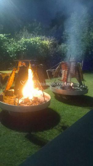 Costillares a la llama