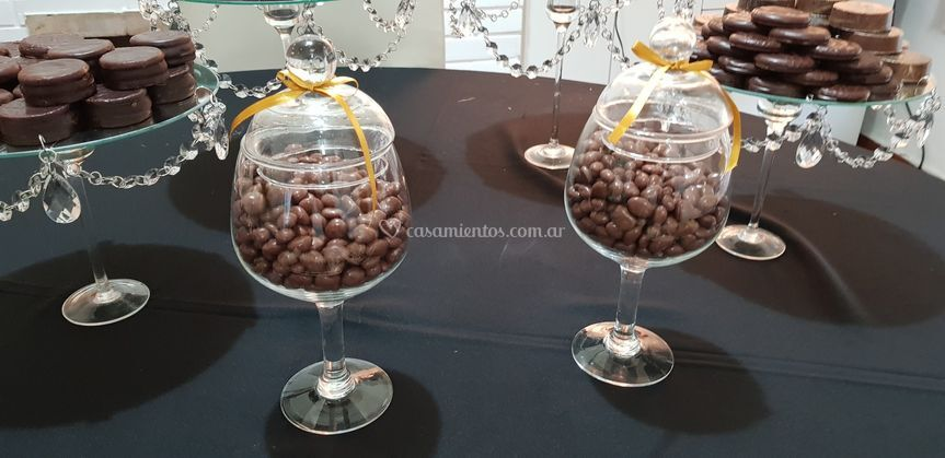 Pasas de uva bañadas