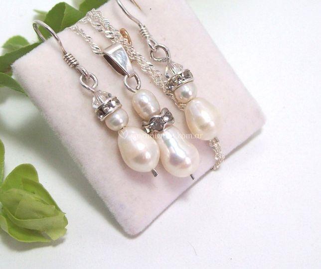 Conjunto perlas de río