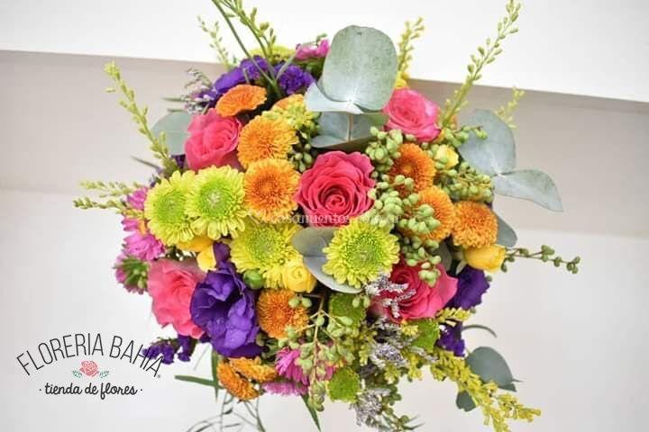 Mix de flores coloridas