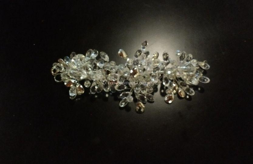 Tocado de novias en cristales