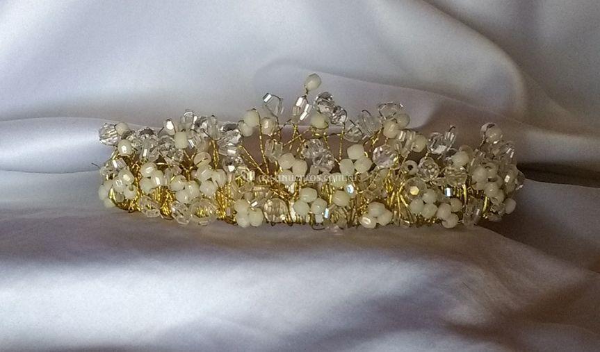 Tocado corona con cristales