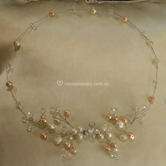 Tocado de Novias perlas