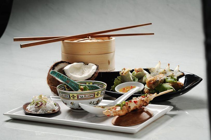 Finger food oriental