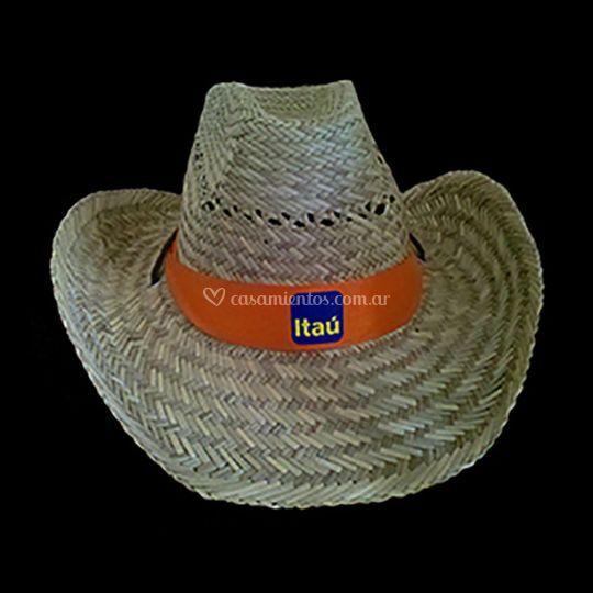 Sombrero paja con diseño