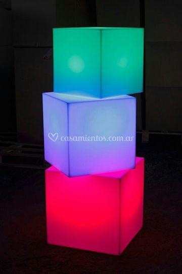 Cubos con luz led