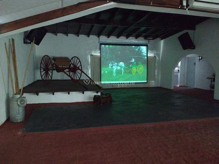 Escenario y pantalla