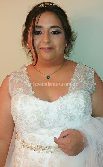 Make up y peinado para Romina