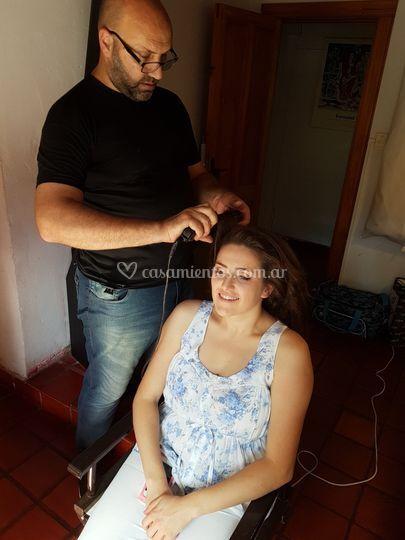 Peinado para novias en Pilar