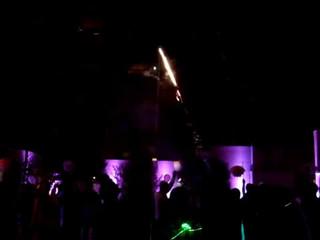 Evento devoto fuegos artificiales