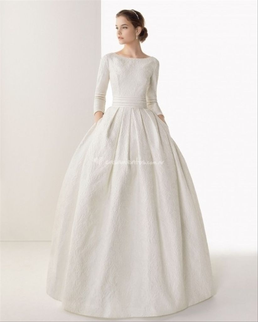 Vestidos de novia sencillos para invierno