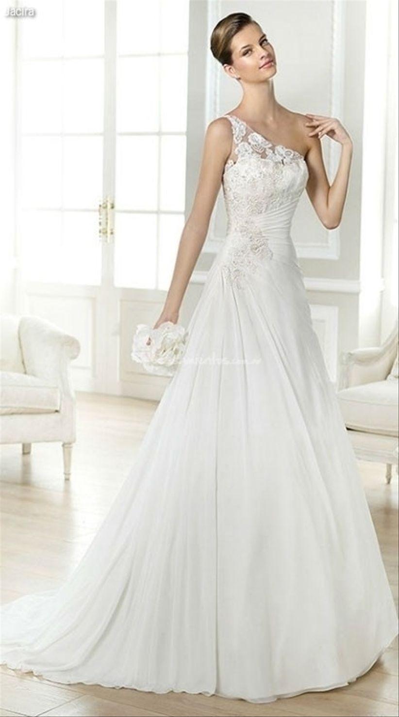 Vestidos de novia con un hombro