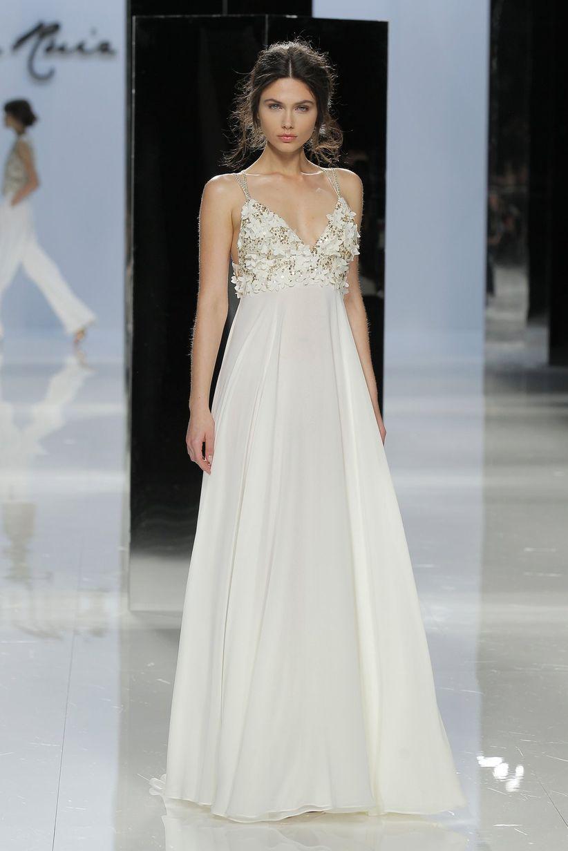 Vestidos de novia sencillos corte imperio