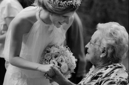 Los novios y los abuelos el d�a del casamiento