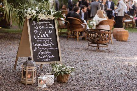 Carteles para el casamiento: 6 formas de marcar la diferencia