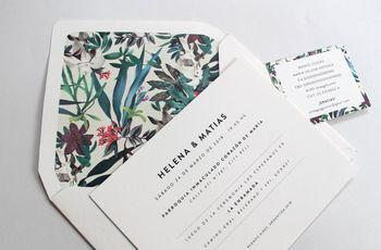 100 modelos de tarjetas de casamiento: la carta de presentación de su gran día