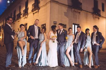 ¿Damas de honor y best men en su casamiento?