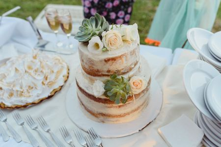 30 naked cakes para darle un toque natural a la torta de casamiento