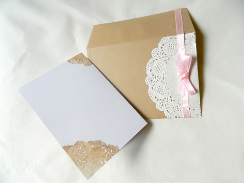 Cómo hacer invitaciones de casamiento vintage