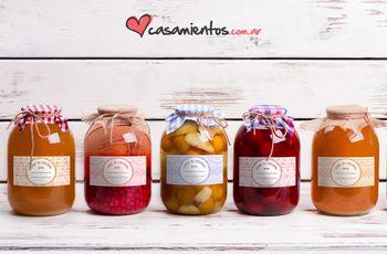 Frascos de mermelada DIY como souvenirs de casamiento