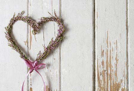 Corazón de flores para decorar tu casamiento