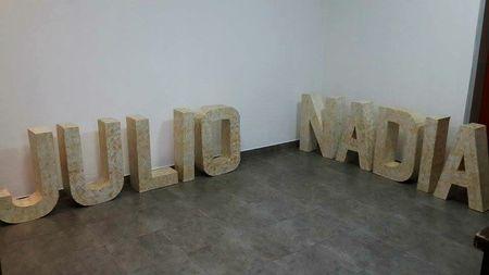 Decorá tu casamiento con letras gigantes