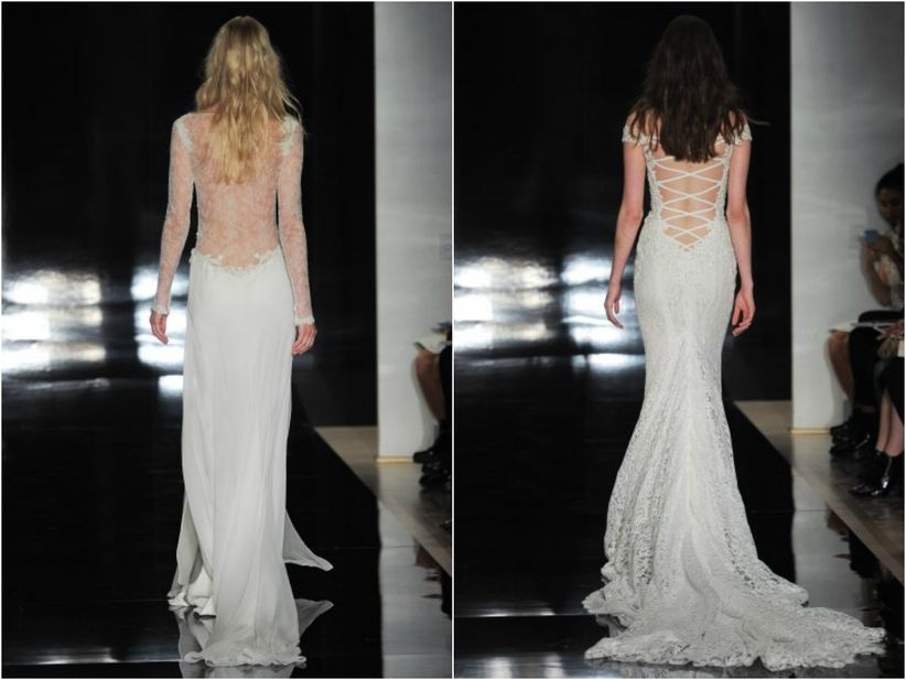 78d286f3a Este tipo de vestido queda muy bien con espaldas al descubierto. El  prestigioso diseñador Reem Acra se especializa en esta técnica.