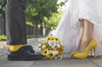 Orlando y Francisca: una boda en amarillo que irradia felicidad