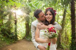 Paula y Carlos: un casamiento en color marsala