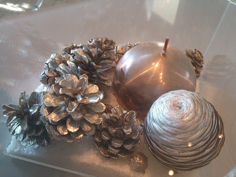 Centros de mesa elegantes y reciclables - Centros navidenos de mesa ...