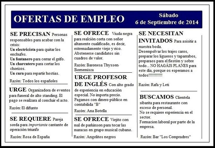 Save the date oferta de trabajo - Oferta de trabajo ...