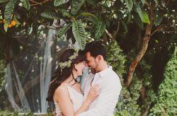 """Eva y David: un casamiento """"total white"""" muy familiar"""