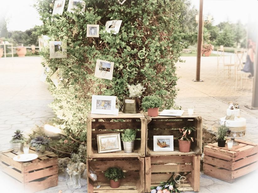 Decoraci n con fotos para un casamiento r stico - Como decorar un salon rustico ...