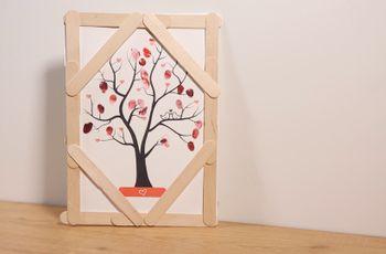 Árbol de huellas DIY: ¡un recuerdo único!